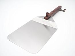 Allgrill Pizzaschaufel aus Edelstahl mit Holzgriff - 1