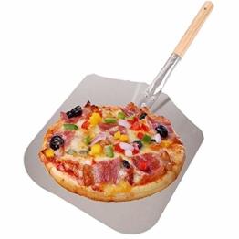 AllRight Pizzaschaufel Aluminium Pizzaschieber mit Holzgriff Brotschieber für Backofen - 1