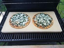 Bearbeitete Pizzaplatte 60 x 30 x 3 cm Backofenplatte Brotbackplatte Pizzastein Brotbackplatte Pizzastein Flammkuchen Nachbearbeitet per Hand ohne scharfe Kanten - 1