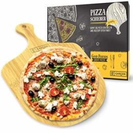 GARCON Pizzaschieber aus Holz für Pizzastein - Original Pizzaschaufel rund 30 cm Durchmesser für Pizza, Brot & Flammkuchen - 1