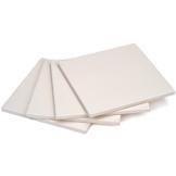 GRÄWE Pizzastein, 4er Set - Brotback-Ofenstein aus Cordierit, 19 × 19 cm, weiß - 1