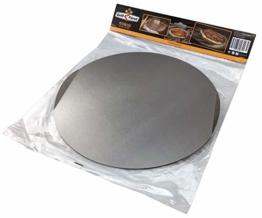 Grillfuerst Pizzablech rund aus Edelstahl - Durchmesser 31 cm - zur Vorbereitung und dem Transport des Pizzateiges - 1