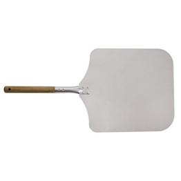 Innoecom Creations Aluminium Pizzaschaufel Pizzaschieber auch verwendbar zum Ofenbrotbacken mit großzügiger Auflagefläche (40 x 35 cm) Gesamtlänge 70 cm - 1
