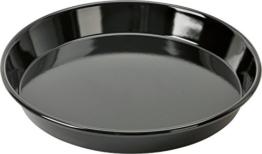 Kaiser Inspiration Pizzablech-Backblech, rund 28 cm, Blech antihaftbeschichtet, schnittfester Emaille-Boden, spülmaschinengeeignet, formstabil - 1