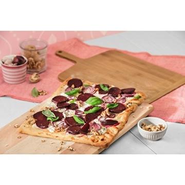 Kaiser Inspiration Pizzaschieber, 48 x 30 x 1,1 cm, Bambus, Pizzabrett mit angeschrägten Kanten, Pizzaschaufel, Pizzaheber - 2