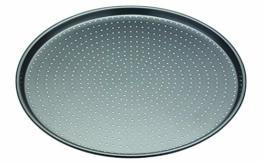 Master Class Crusty Bake Antihaft-Pizzablech/Knusperblech, Stahl, grau, 32 x 32 x 1,4 cm - 1
