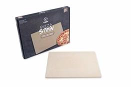 Moesta-BBQ 19217 Pizzastein No. 1 eckig 45x35cm aus Cordierit Naturstein für Pizza-Genuss wie aus dem Steinofen beim Italiener. - 1