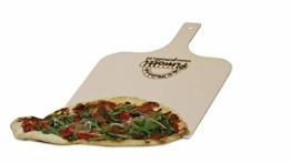 Pimotti Pizzaschaufel/Brotschaufel/Flammkuchenbrett aus naturbelassenem Sperrholz für Pizzastein (1er Set) - 1