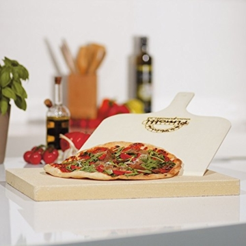 Pimotti Pizzastein 3cm inkl Rezeptheft Pizzaschaufel | Pizzaboden Pizza cross backen | Pizza daheim wie im Steinofen | Das Original aus dem TV 2 Minuten 2 Millionen powered by Mediashop - 3