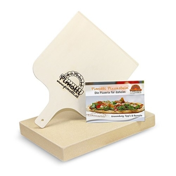 Pimotti Pizzastein 3cm inkl Rezeptheft Pizzaschaufel | Pizzaboden Pizza cross backen | Pizza daheim wie im Steinofen | Das Original aus dem TV 2 Minuten 2 Millionen powered by Mediashop - 6