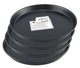 Pizzablech / Pizzaform / Pizza-Backblech, rund, unbeschichtet, für Steinofen geeignet, hitzefest bis 400°, Gastronomie geeignet, aus Blaublech geschmiedet von Turk, 4er Set (Durchmesser: 26cm) - 1
