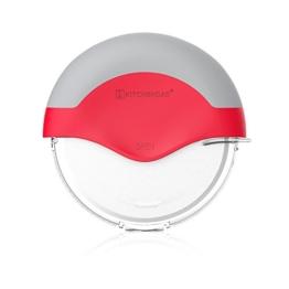 Pizzaroller mit Schutzklingenabdeckung- Sichere Lagerung | Abnehmbar, Super Sharp Blade-Food Grade 430 Edelstahl Pizzamesser - 1