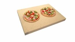 Pizzastein rechteckig für Backofen & Grill | 40 x 30 x 3cm - Aus massiver Schamotte - Lebensmittelecht | Verwendbar als Brotbackstein & Flammkuchenplatte | Profi-Qualität wie beim Italiener - 1