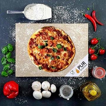 PUR Schamotte® Pizzastein Brotbackstein für Backofen Gasgrill Kohlegrill 40 x 30 cm x 25 mm Rechteckig Schamott - 2
