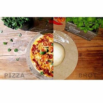 PUR Schamotte® Pizzastein Brotbackstein für Backofen Gasgrill Kohlegrill 40 x 30 cm x 25 mm Rechteckig Schamott - 4
