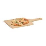 Relaxdays Pizzaschieber Bambus, 50 x 30 cm, als Pizzaschaufel, abgerundete Kanten, mit Griff, Brotschieber, natur - 1