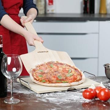 Relaxdays Pizzaschieber XXL aus Holz mit extra langem Griff HBT ca. 1 x 30 x 78 cm Pizzaschaufel für Pizzaofen Pizzaheber als ideales Zubehör zum Pizzabrett auch als Pizzateller oder Pizzabrett, natur - 2