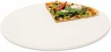 Relaxdays Pizzastein rund, Steinplatte für Pizza & Flammkuchen, Backstein für Ofen & Grill, Cordierit, 33 cm Ø, beige - 1
