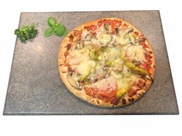 Splittprofi Brotbackstein/Pizzastein aus Naturstein 40 cm x 30 cm x 2 cm Made in Germany Grill o Backofen - 2