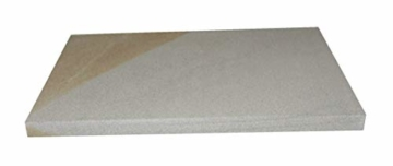 Splittprofi Brotbackstein/Pizzastein aus Naturstein 40 cm x 30 cm x 2 cm Made in Germany Grill o Backofen - 3