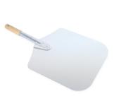 Vesuvo Pizzaschaufel/Pizzaschieber aus Metall - für 30cm Pizza - ideale Länge von 57cm für Innensatz - 1