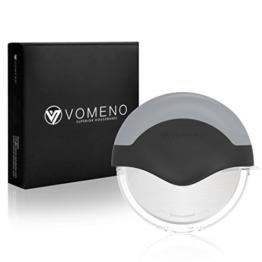 Vomeno® XXL Pizzaroller für perfekte Stücke ohne Kraftaufwand - Profi Pizzaschneider mit integriertem Klingenschutz & Reinigungsfunktion [Edelstahl] - 1