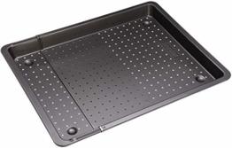 Zenker Backblech perforiert (52-37 cm x 33 cm), Ofenblech, ausziehbar & verstellbar, Lochblech, universal geeignet für Baguette, Kuchen, Pizza & Plätzchen - 1